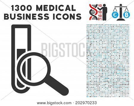 Explore Test-Tube grey vector icon with 1300 medical commercial icons. Collection style is flat bicolor light blue and gray pictograms.