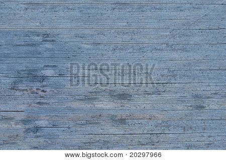 Old wooden blue painted surface