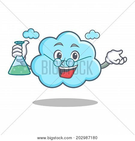 Professor cute cloud character cartoon vector illustration