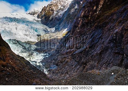 franz josef glacier most popular traveling destination in south island new zealand