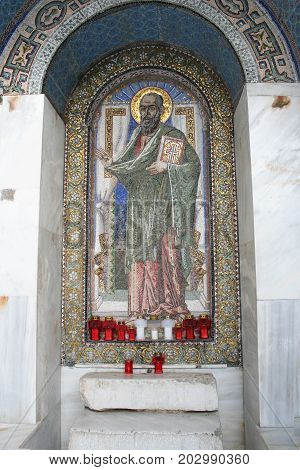 St. Paul Monument in Berea, Greece. Also known as Verea, Greece. Acts 17.