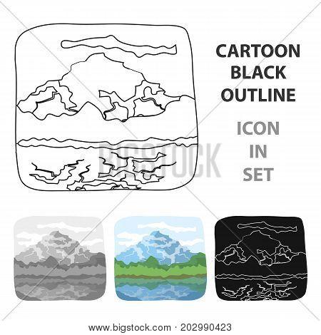 Canadian waterfall. Canada single icon in cartoon style vector symbol stock illustration .