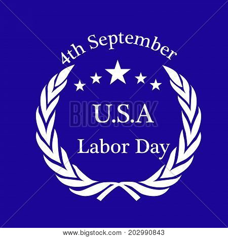 illustration of stars with 4th September U.S.A. Labor Day text on the occasion of Labor Day