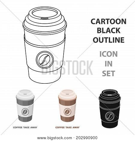 A cup of coffee to takeaway.Different types of coffee single icon in cartoon style vector symbol stock illustration .