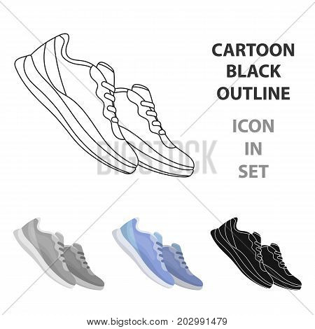 Blue sneakers for sports. Sports shoes .Gym And Workout single icon in cartoon style vector symbol stock web illustration.