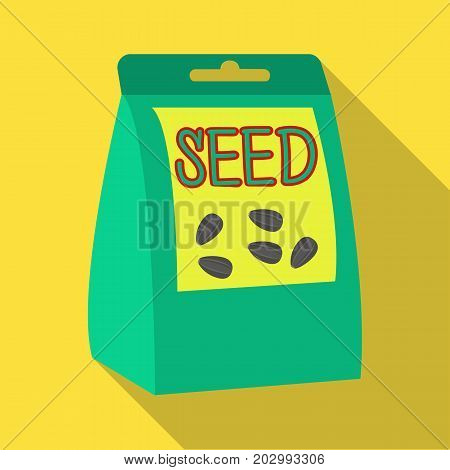 Seeds, single icon in flat style.Seeds, vector symbol stock illustration .