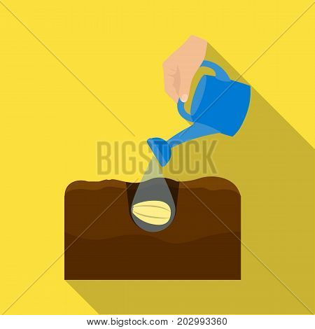 Watering single icon in flat style .Watering, vector symbol stock illustration .