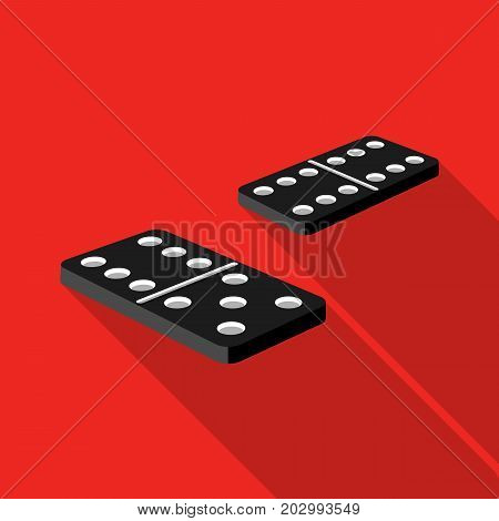 Game, single icon in flat style.Game, vector symbol stock illustration .