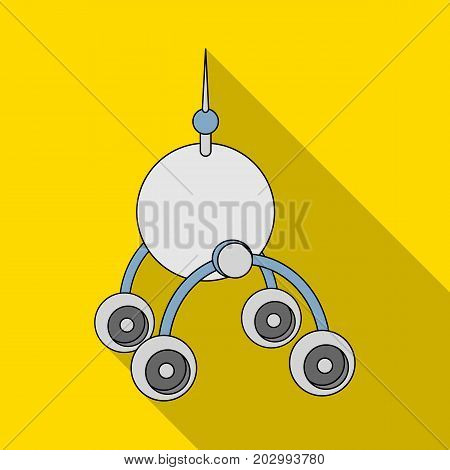 The spacecraft, Lunokhod. Space technology single icon in flat style vector symbol stock illustration .