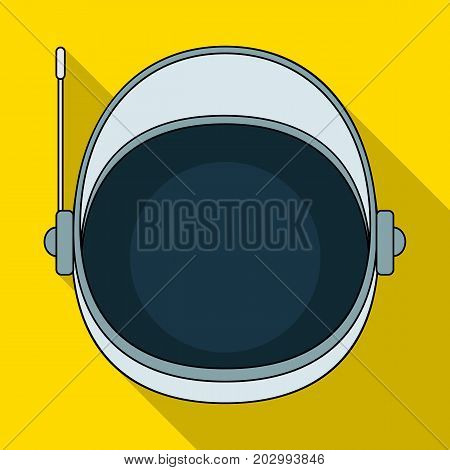 Protective helmet cosmonaut. Space technology single icon in flat style vector symbol stock illustration .