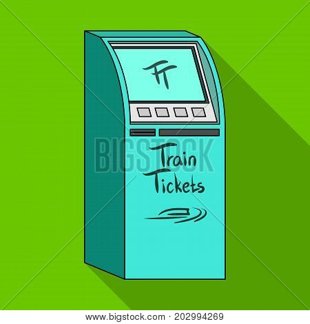 Terminal for train tickets. Terminals single icon in flat style isometric vector symbol stock illustration .