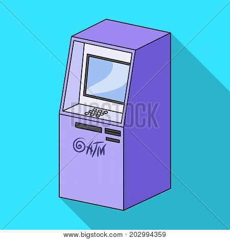 Terminal, ATM for receiving cash. Terminals single icon in flat style isometric vector symbol stock illustration .