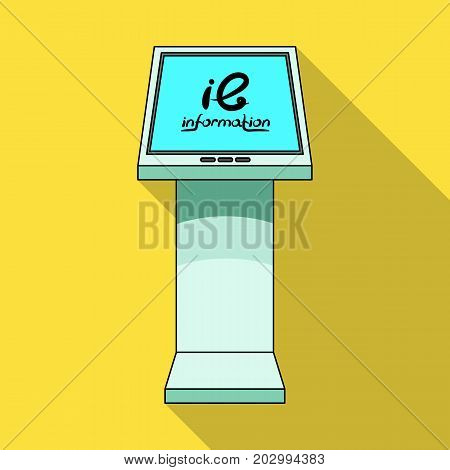 Information terminal. Terminals single icon in flat style isometric vector symbol stock illustration .