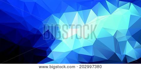 Blue Light Polygonal Mosaic Background, Vector Illustration, Business Design Wall Background With Vi