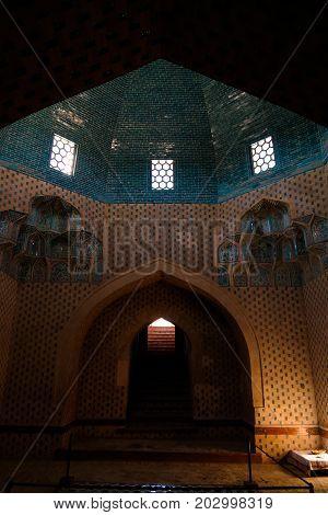 View to Mazlumkhan Sulu mausoleum in Mizdakhan -27-04-2017 khodjeyli Karakalpakstanuzbekistan