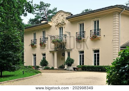 Grodno, Belarus - August 13, 2017: Luxury country hotel