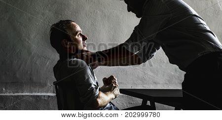 Detective enforcement to a man