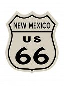 Route 66 sign, New Mexico state. High resolution illustration poster