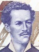 Juan Montalvo portrait from Ecuadorian money - Sucres poster