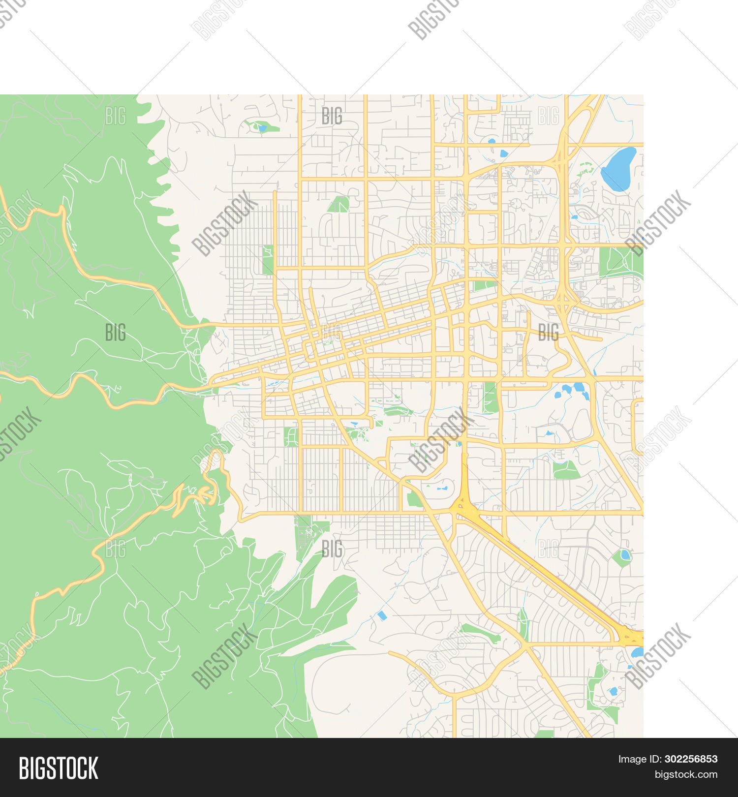 photograph regarding Printable Map of Colorado identify Vacant Vector Map Vector Photograph (Cost-free Demo) Bigstock