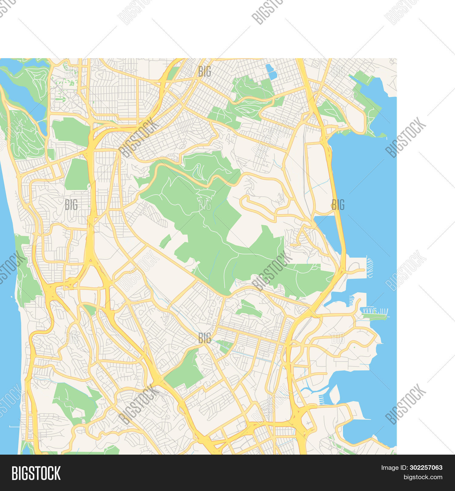 Empty Vector Map Daly Vector & Photo (Free Trial) | Bigstock