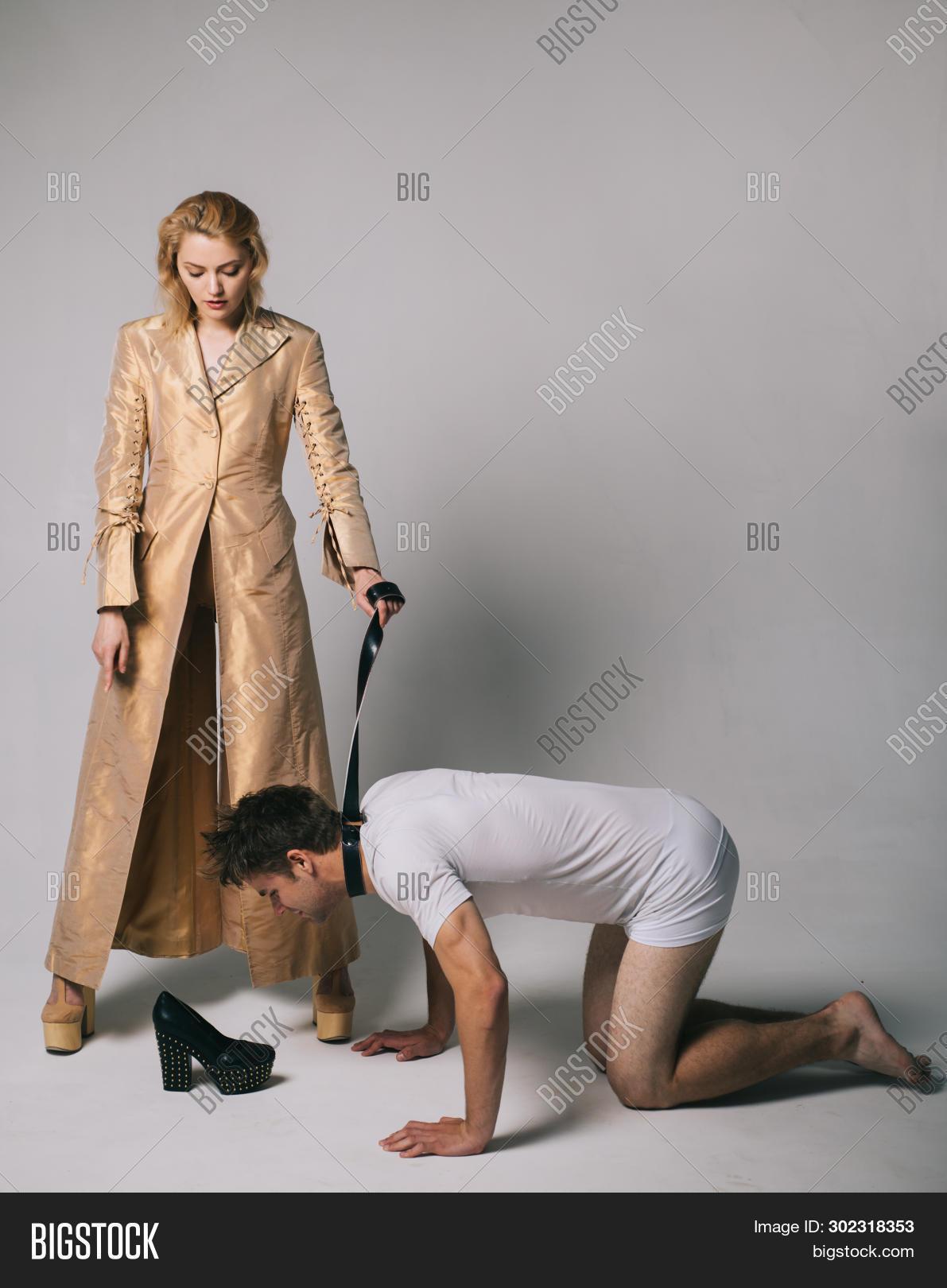 Man Dominates Woman Wrestling
