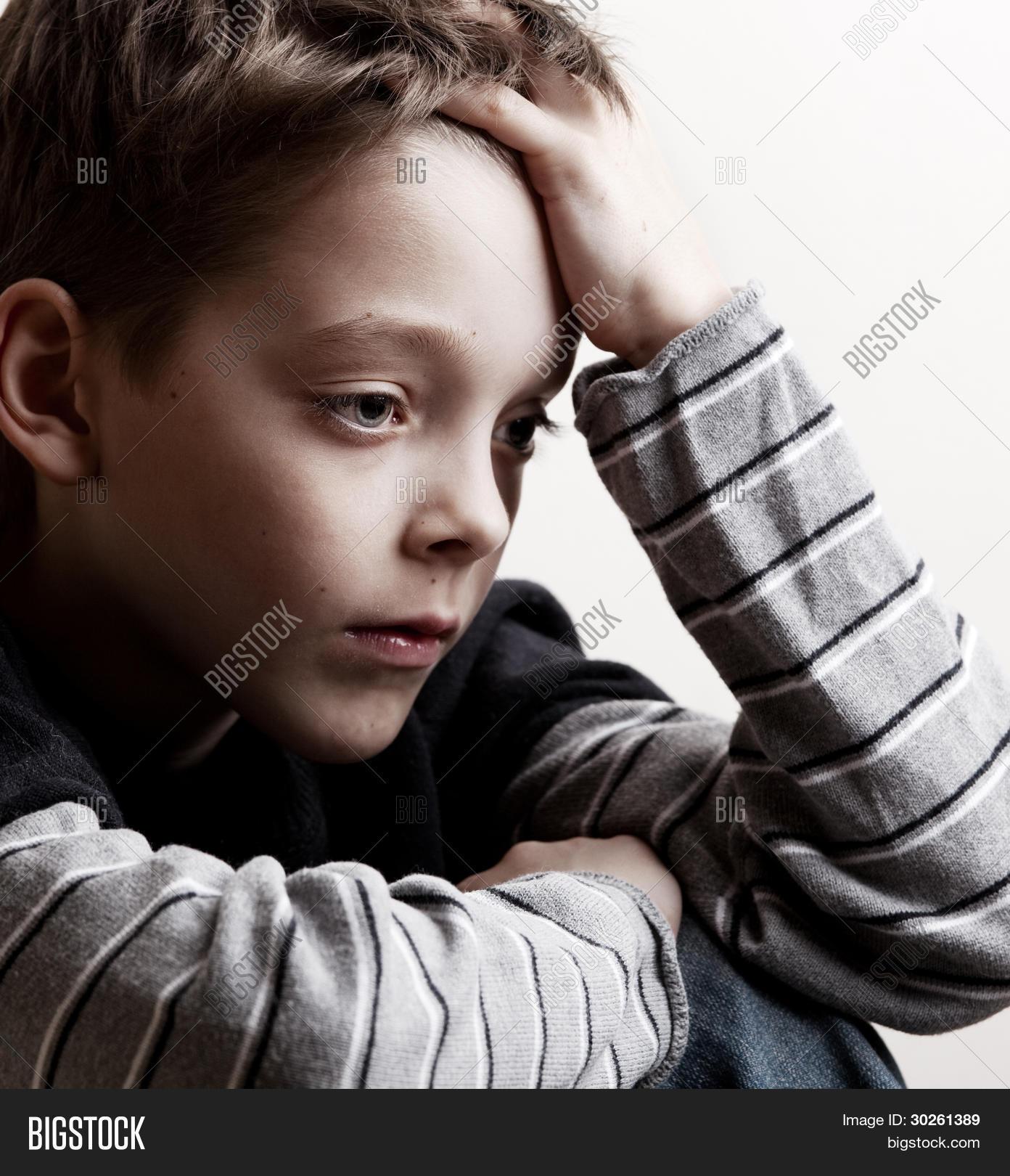 sad boy depressed image photo free trial bigstock