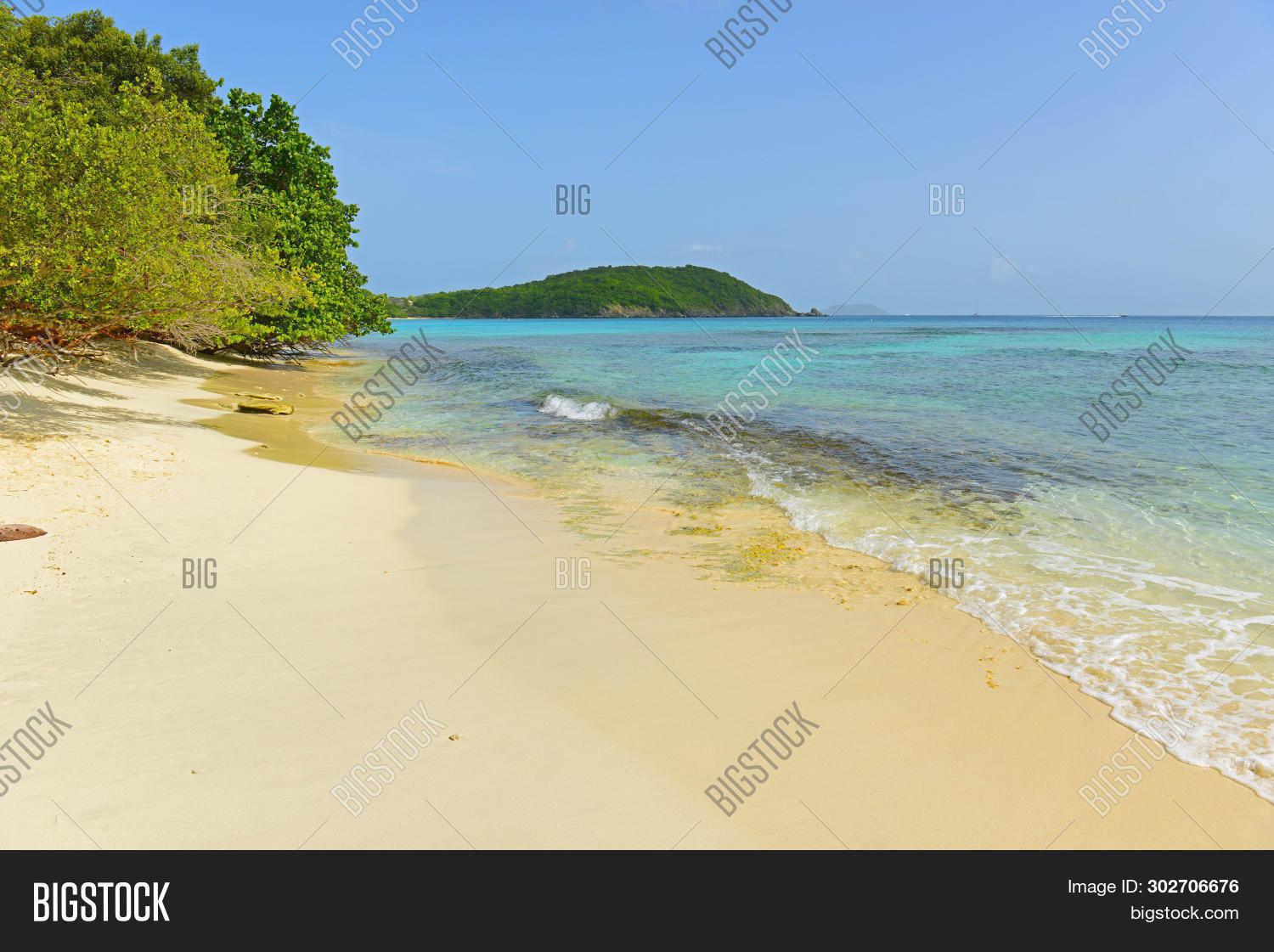 Hawksnest Beach Virgin Image Photo Free Trial Stock