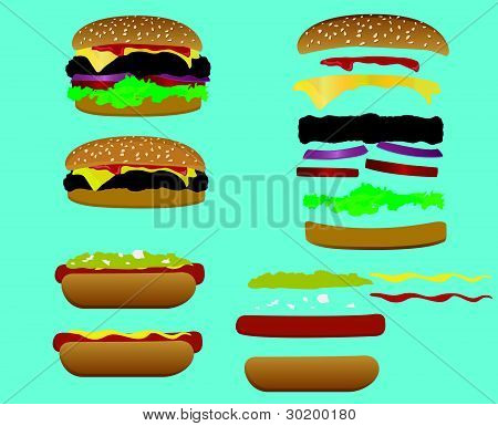 Hamburger & Hotdog