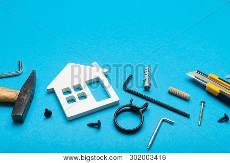 Maintenance Property House, Home Fix Concept. Repair Plan. Copy Space For Text.