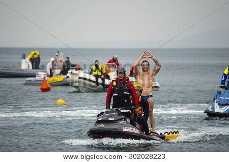 18.05.2019 Trieste, Italy. Italian Highdiver Alessandro De Rose