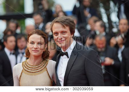 Valerie Pachner and August Diehl attend the screening of