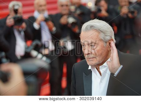 Alain Delon attends the screening of