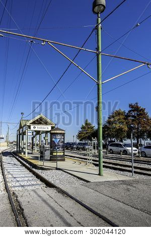 New Orleans, Usa - Dec 11, 2017: View Of The Toulouse Street Railway Station. Image Taken In Front O