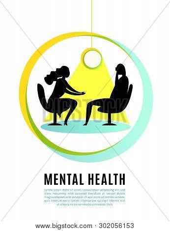 Psychologist, Psychotherapist Creative Concept Useful For Website, Brochure, Print Design. Editable