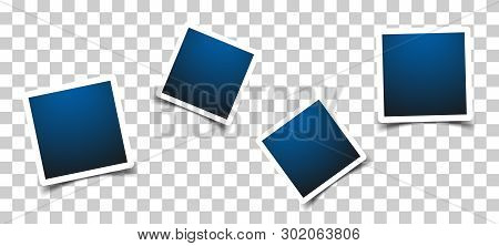 Photo Frame Sign Icon In Transparent Style. Snapshot Picture Vector Illustration On Isolated Backgro