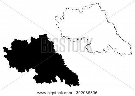 Iasi County (administrative Divisions Of Romania, Nord-est Development Region) Map Vector Illustrati