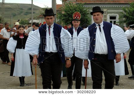 Celebration of a traditional Hungarian wedding