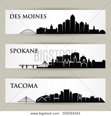 United States Of America Cities Skylines - Usa - Des Moines, Spokane, Tacoma, Iowa, Washington - Iso