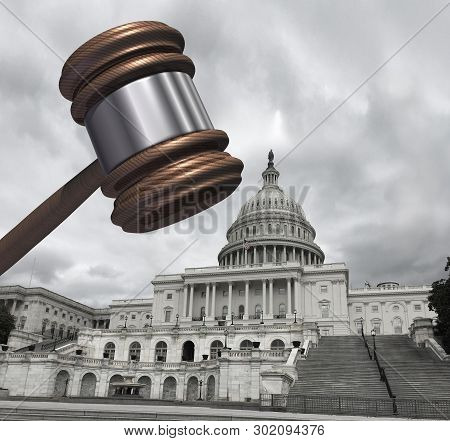 Congress And Law As Congressional Subpoena And Political Legislation Concept Or Government Investiga