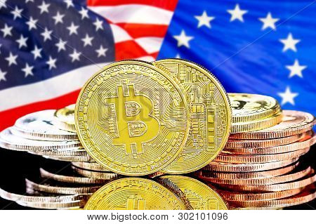 Concept For Investors In Cryptocurrency And Blockchain Technology In The European Union And United S