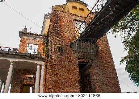 Rio De Janeiro, Brazil: Parque Das Ruinas In Santa Teresa Hill, A Public Park With Ruins Of A Mansio