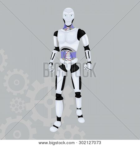 Robot Android Vector Vector & Photo (Free Trial) | Bigstock