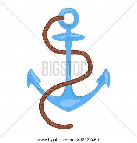 Anchor Vector Icon On A White Background. Nautical Illustration Isolated On White. Naval Realistic S