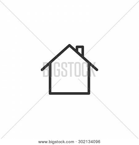 Home Icon In Trendy Flat Style Isolated On Background. Home Icon Page Symbol For Your Web Site Desig