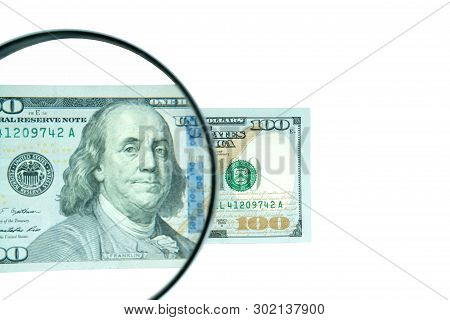Dollars, Banknotes On White Background. Top View.