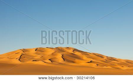 Sand Sea In The Sahara Desert