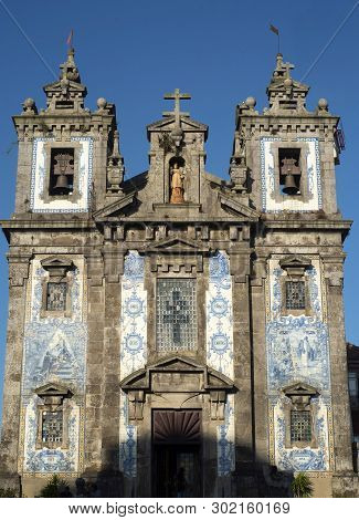 Church Igreja De Santo Ildefonso, Porto, Portugal.