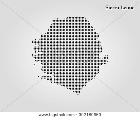 Map Of Sierra Leone. Vector Illustration. World Map