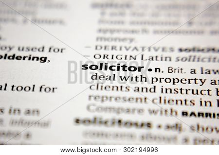 Word Or Phrase Solicitor In A Dictionary.